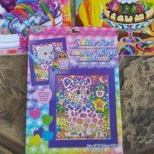 Lisa Frank Office - Lisa Frank Color Book Lot & Glitter Art